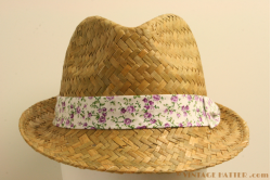 Ladies straw fedora Hawkins 57 [new]