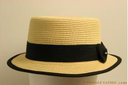 Boater hat Hawkins cream 57 [new]