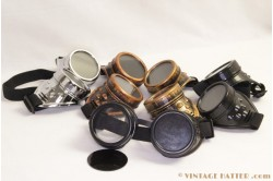 Steampunk Welding Goggles silver