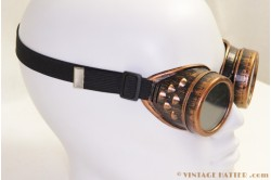 Steampunk Welding Goggles red copper