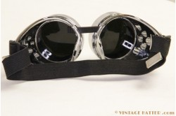 Steampunk lasbril (Goggles) chroom