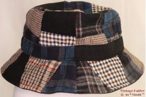 Fisherman hat patchwork blue 58 [new]