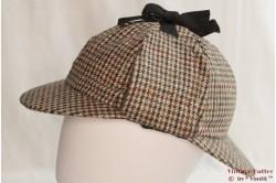 Deerstalker Sherlock Holmes cap green/brown 59 [new]