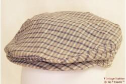 Flatcap Mosccino beige blue 56