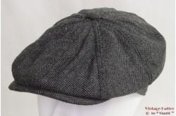 Paperboy cap Hawkins grey herringbone 57 [new]