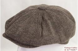 Paperboy cap Hawkins brown herringbone 58 [new]