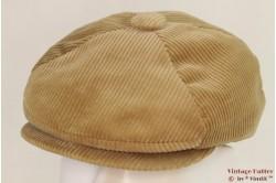 Paperboy cap beige corduroy padded 54