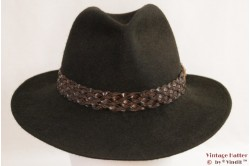 Outdoor hat Country Club Style brown green fur felt 56
