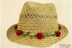 Trilby Hawkins straw with roses 57 [new]