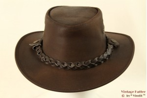 Western hat Hawkins brown roughed leather 60 [new]