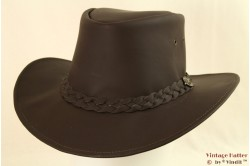Australian Western hat Hawkins brown leather 59 [new]