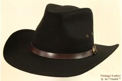 Western hat Hawkins black cotton 59 [new]