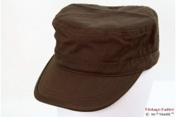 Army Cap brown cotton 54-60 [new]