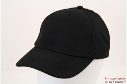 Baseball cap black shower resistant 54-60 [new]