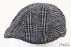 Flatcap Hawkins grey blue plaid 59 [new]