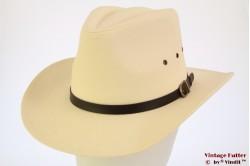 Western hat Hawkins white cotton 59 [new]