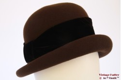 Cloche hat H.A.T Company brown felt 56