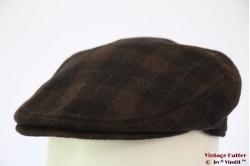 Flatcap Faustmann brown plaid with earwarmer 57 [new]