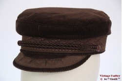 Captain's cap Prinz Heinrich brown corduroy 55