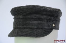 Captain's cap Chudárek grey corduroy 56