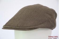 Flatcap Christys beige brown herringbone silk 59,5 [new]