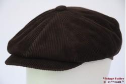 Paperboy cap brown corduroy 55 [new]