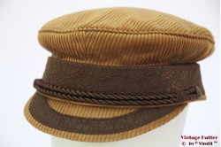 Captain's cap Prinz Heinrich brown corduroy 60