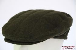 Platte pet groen wol met oorwarmer 61 [nieuw]