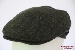 Platte pet BDP donker groen wol met oorwarmer 57 [nieuw]