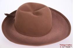 Ladies hat redish brown wide special top 56
