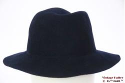 Ladies hat dark blue felt 57
