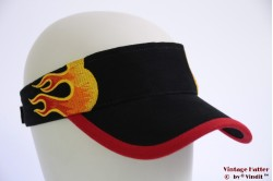Visor SkyHigh black with flames and velcro 52-63 [new]