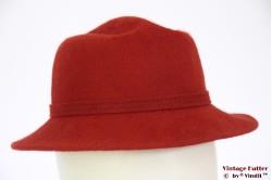 Ladies hat brownish red fur felt 53 (XXS)