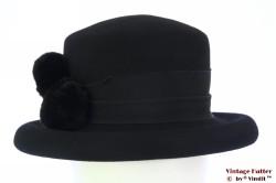 Ladies hat Canda black felt 56