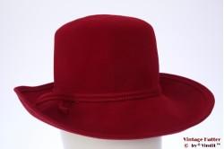 Ladies hat Mayser red velvet 56
