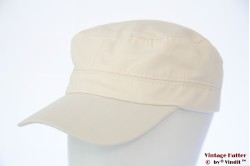 Army cap cream off-white cotton 53-60 [new]