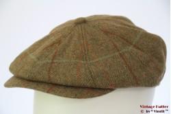 Paperboy cap Hawkins 'Gatsby' mid green tweed 60 [new]