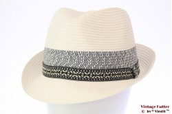 Trilby Hawkins white with blue band 61 [new]