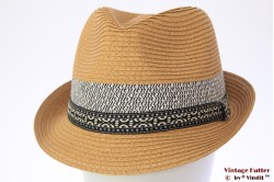Trilby Hawkins beige brown with blue band 61 [new]