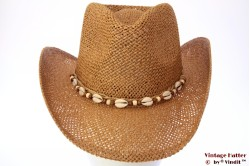 Western summer hat Hawkins beige brown 54-61 [new]