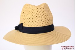Fedora Hawkins yellow braided with blue band 59 [new]
