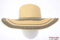Wide ladies floppy hat Hawkins yellow 57 [new]