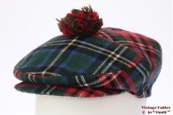 Platte pet rood groene Schotse ruit 56