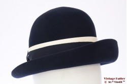 Ladies hat dark blue felt 55