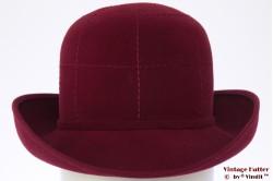 Ladies hat Mayser burgundy velour 55