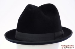 Fedora Wegener Colonel blackish blue velour 58