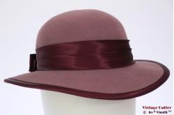 Ladies hat soft purple & burgundy 54,5 (XS)
