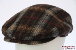Flatcap brown and grey tweed 57