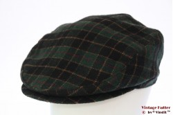 Flatcap green black plaid 60 (XL)