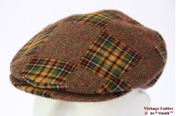 Flatcap Arthur Bell - Derby green plaid tweed 54 (XS)